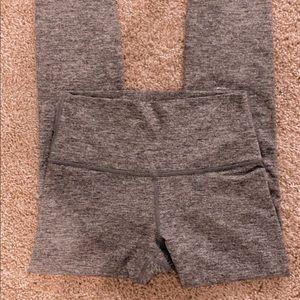Heathered gray lululemon align pants